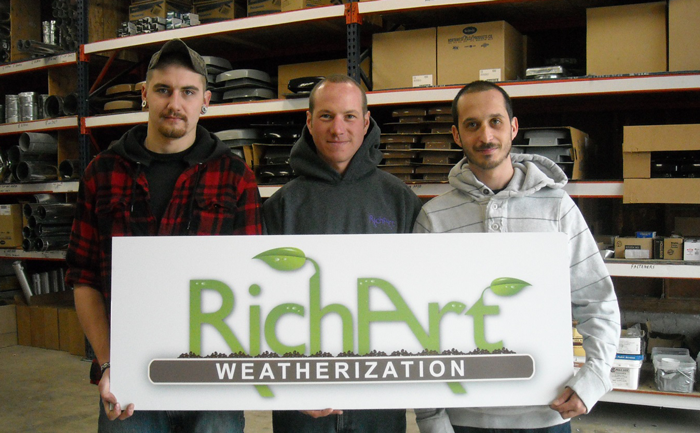 Weatherization Apprentices from left to right: George Palfi, Martin Olesen and Kenneth TopNot pictured: Casey Richart and Tony Armijo